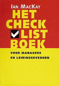 Meer informatie over dit checklistboek voor managers en leidinggevend (cadeau tip)