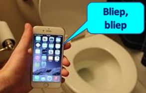 Iphone Toilet Bliep