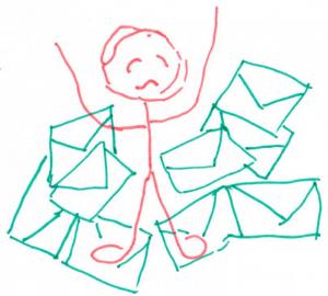 Teveel e-mail minder mail ontvangen