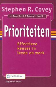 boek prioriteiten stephen covey urgent belangrijk
