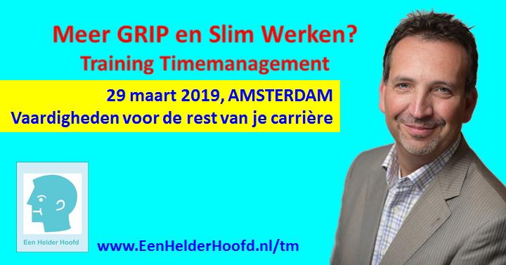 Training Timemanagement Cursus Amsterdam 29 maart 2019